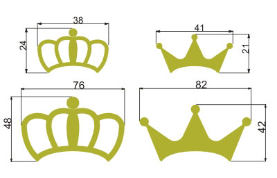 sticker crown sizes